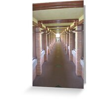 walking down the pergola Greeting Card