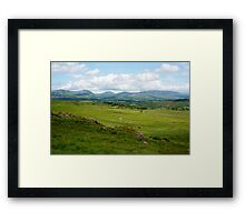 landscape view of a beautiful hiking route Framed Print