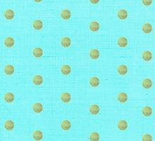 Blue and Pistachio green Polka dots iphone case by Ruth Fitta-Schulz