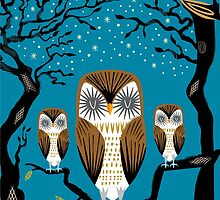 Three Lazy Owls by Oliver Lake