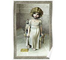 Little girl on footstool Poster