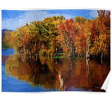 Delta Lake Reflections Painted Poster