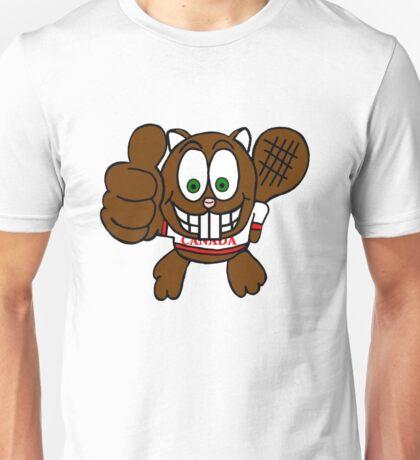 Thumbs up Canadian Beaver Unisex T-Shirt