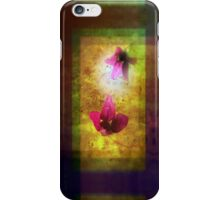 marriage of Titania; Salmon berry floral duet iPhone Case/Skin