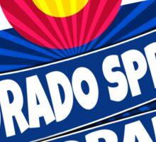 Colorado Springs flag burst  Sticker