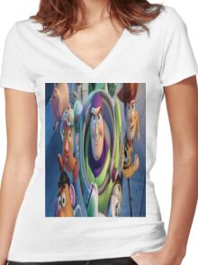 Toy Story Women's Fitted V-Neck T-Shirt