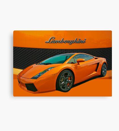 Super Car in Orange Canvas Print