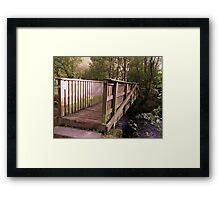 Bridge Over Water Framed Print