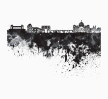 Rome skyline in black watercolor Kids Clothes