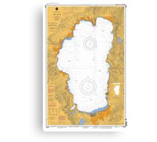 Lake Tahoe California Map Canvas Print