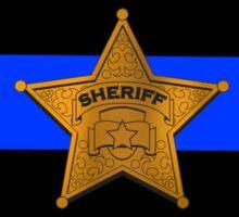 Sheriff Thin Blue Line Sticker