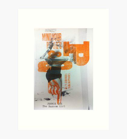 BazoomGirl Art Print