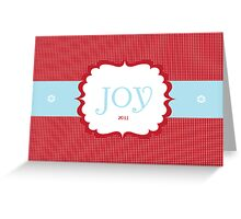Joy 2011 Greeting Card