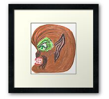 THE WEREWOLF Framed Print