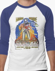Grindhouse Lounge presents:The Day the Earth Stood Still(French promo) Men's Baseball ¾ T-Shirt