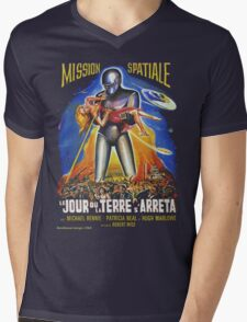 Grindhouse Lounge presents:The Day the Earth Stood Still(French promo) Mens V-Neck T-Shirt