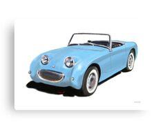 Austin Healey Sprite blue Canvas Print