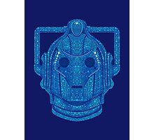 Snowflake Cyberman - Tardis Blue Photographic Print