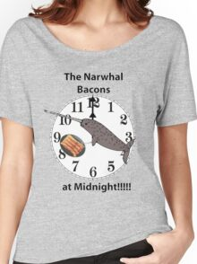 The Narwhal Bacons at Midnight  Women's Relaxed Fit T-Shirt