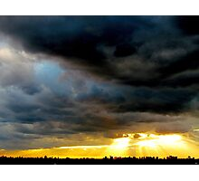 Roaring skies, New York City  Photographic Print