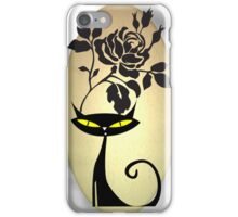 Tribal Black Cat Rose iPhone Case/Skin