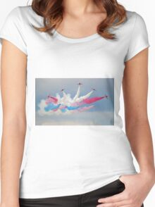 The Red Arrows - Detanator - Dunsfold 2014 Women's Fitted Scoop T-Shirt