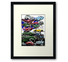 British Sports Cars Framed Print