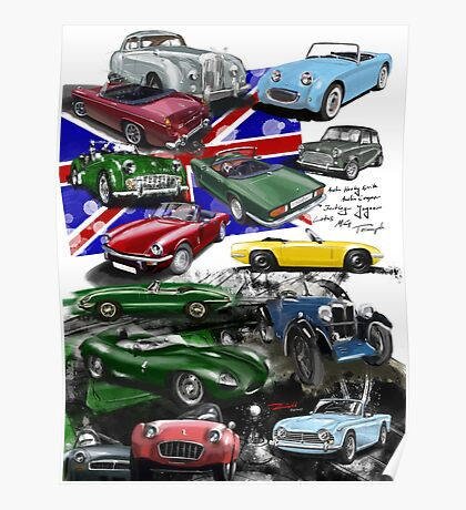 British Sports Cars Poster
