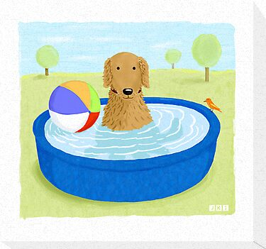Kiddie Pool Dog by Jenn Inashvili