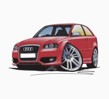 Audi S3 (Mk2) Red by Richard Yeomans