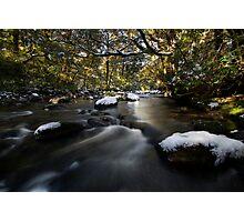 Snowy Stream Photographic Print