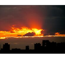 Ripped sky, New York City  Photographic Print