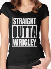 Straight Outta Wrigley Women's Fitted Scoop T-Shirt