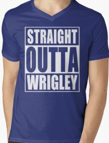 Straight Outta Wrigley Mens V-Neck T-Shirt