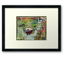 challenge as an opportunity Framed Print
