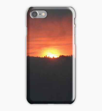 Golden Sunrise Over the Columbia River iPhone Case/Skin