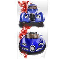Bugatti Veron and Atlantic Poster