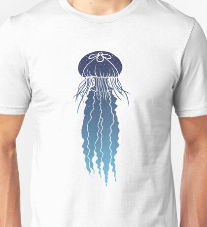 Night Sky Jellyfish (Transparent Lines) Unisex T-Shirt