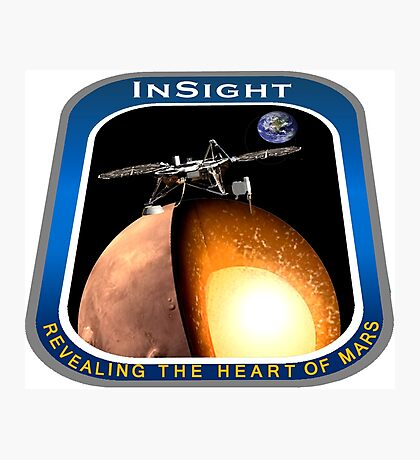 InSight Mission Operations Logo Photographic Print