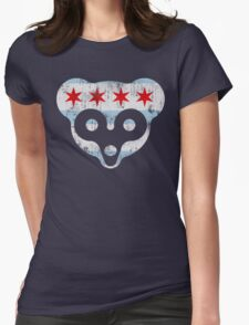 Chicago Flag Cub Face Womens Fitted T-Shirt