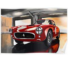 Ferrari by Race Poster
