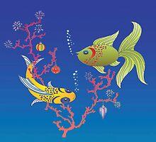 Coral Fish Christmas by 123jim