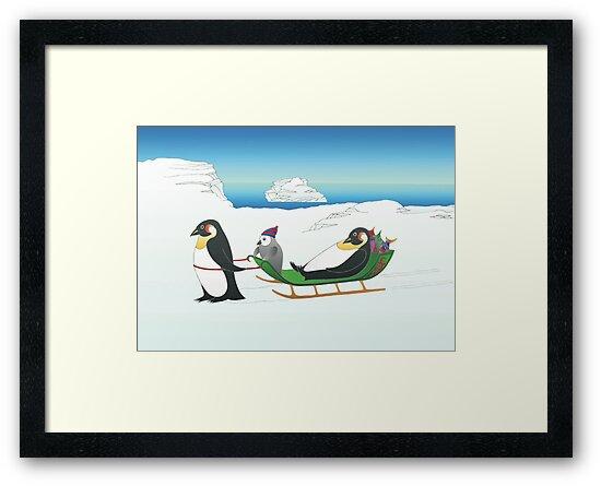 Penguin  Christmas by 123jim