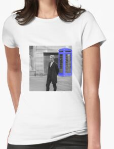 Doctor Who Mad Man In a Blue Box Womens Fitted T-Shirt