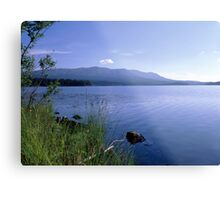 Blue lake and sky Metal Print