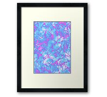 Grunge Art Floral Abstract Framed Print