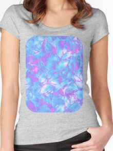 Grunge Art Floral Abstract Women's Fitted Scoop T-Shirt