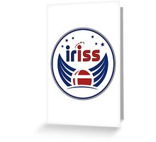 IrISS Mission to the International Space Station Logo Greeting Card