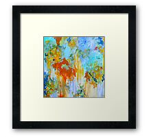 Turbulent. 30 x 30. Acrylic on Canvas. Framed Print