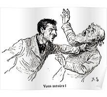 Achille Sirouy Mark Twain Les Aventures de Huck Huckleberry Finn illustration p204 Poster